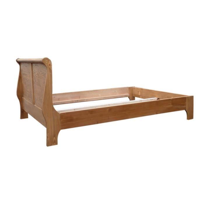 lit louis philippe 160x200 pin massif cir miel achat vente structure de lit lit louis. Black Bedroom Furniture Sets. Home Design Ideas