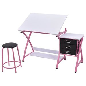 table a dessin inclinable achat vente table a dessin inclinable pas cher cdiscount. Black Bedroom Furniture Sets. Home Design Ideas