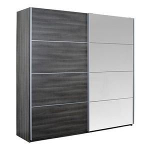 Armoire 2 porte coulissante gris achat vente armoire 2 - Armoire 2 portes coulissantes pas cher ...