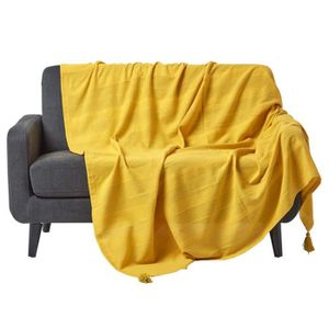 couvre lit boutis jaune achat vente couvre lit boutis jaune pas cher cdiscount. Black Bedroom Furniture Sets. Home Design Ideas