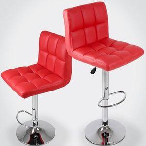 TABOURET DE BAR Tabouret Chaise de Bar set de 2 pièces en Simili C