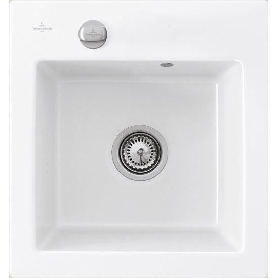 Villeroy boch evier xs subway pure blanc achat vente for Evier cuisine ceramique blanc