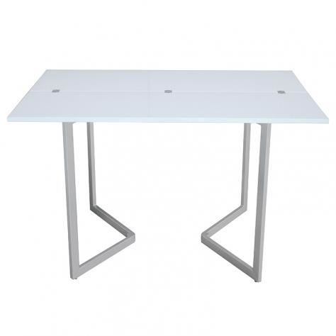 Table console extensible blanche aurelia achat vente console extensible t - Table extensible blanche ...