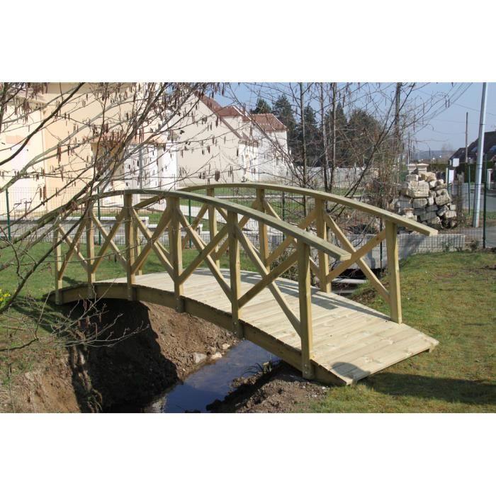 pont de jardin en bois achat vente pont pont de jardin en bois cdiscount. Black Bedroom Furniture Sets. Home Design Ideas