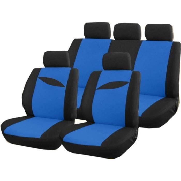 Housse protection si ge de voiture bleu et noir achat for Housse siege auto