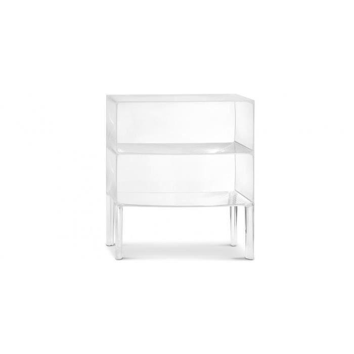 table de chevet transparente 2 niveaux ghost buste achat