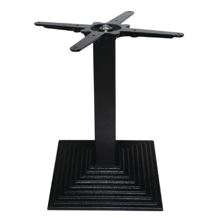 Pied de table basse noir en fonte de 48 cm avec base - Pied de table en fonte occasion ...