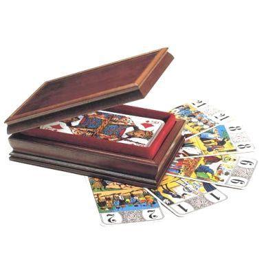 coffret en bois pour jeux de tarot achat vente cartes de jeu cdiscount. Black Bedroom Furniture Sets. Home Design Ideas