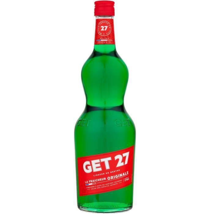 Get 27 - Liqueur à la menthe - origine France - 21° - 1 litre