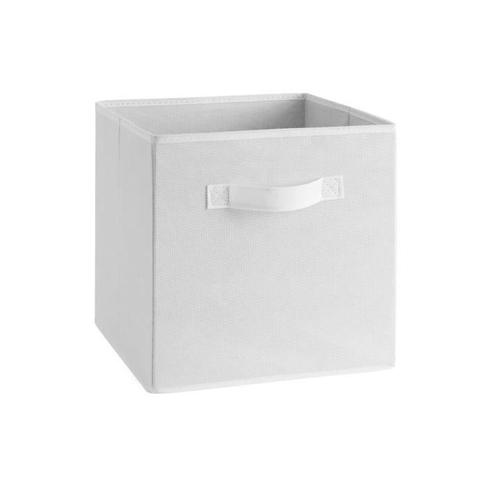 compo tiroir de rangement tissu blanc 27x27x28 cm achat. Black Bedroom Furniture Sets. Home Design Ideas