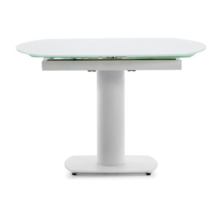 Table extensible blu blanc achat vente table a manger seule table extensible blu blanc - Table extensible cdiscount ...