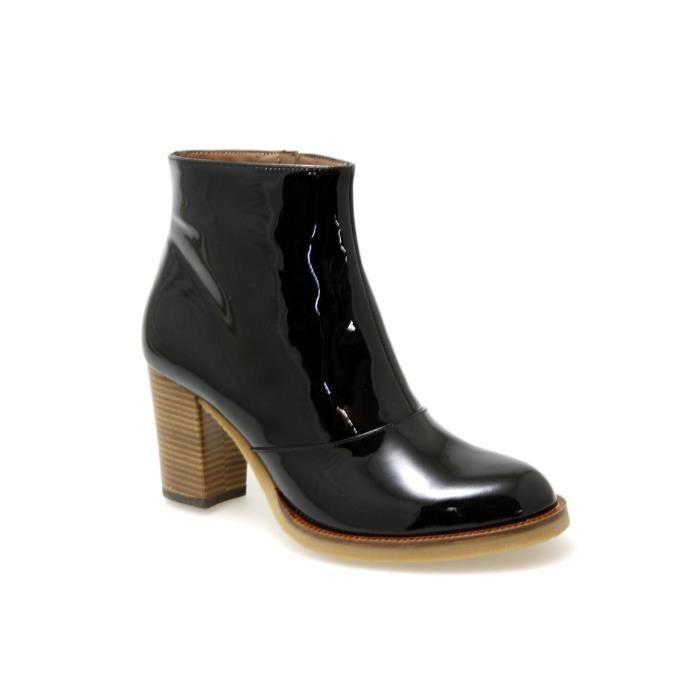 boots vernis noir. Black Bedroom Furniture Sets. Home Design Ideas
