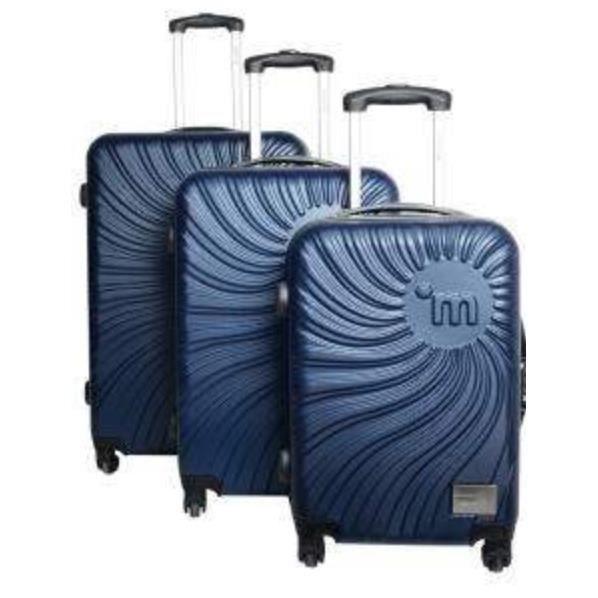 bagage murano lot de 3 valises 4 roues bleu achat vente set de valises bagage murano lot. Black Bedroom Furniture Sets. Home Design Ideas