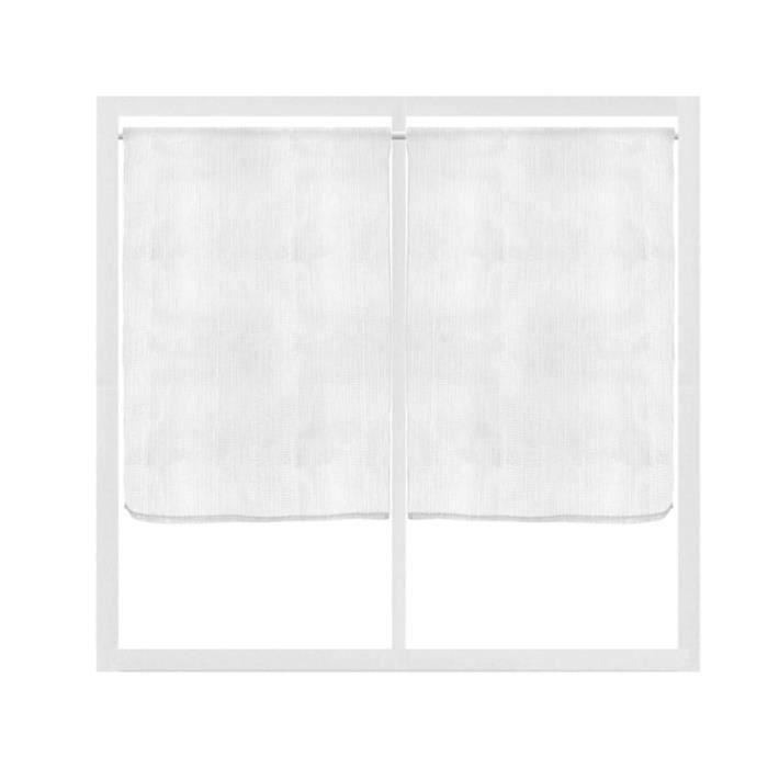 Paire brise bise 60x90 cm cathy blanc achat vente for Fenetre 60x90