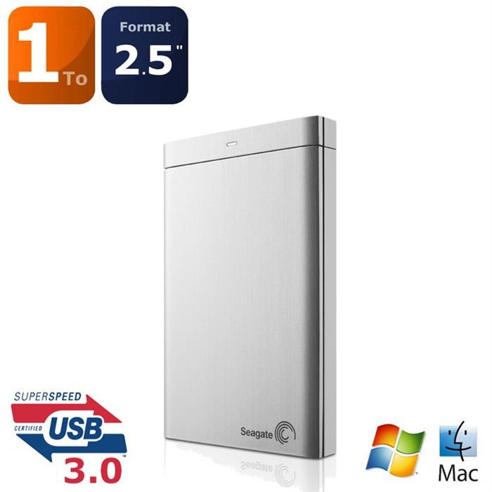 "DISQUE DUR EXTERNE Seagate Backup Plus 2.5"" 1To USB3.0 Silver"