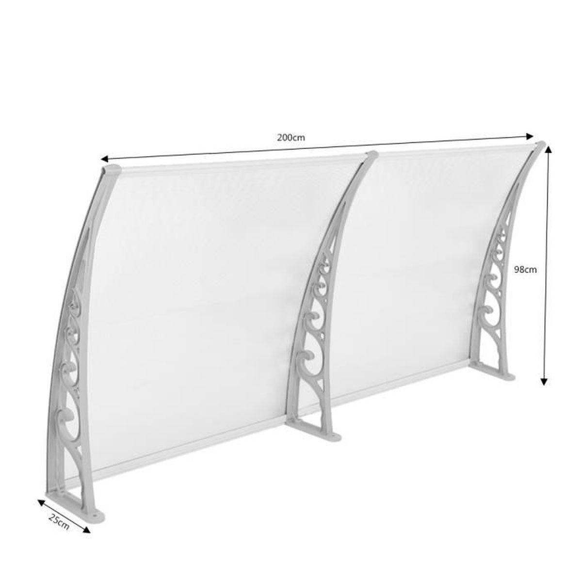 100x200cm diy auvent de porte store solaire abri banne entr e ombre protection achat vente. Black Bedroom Furniture Sets. Home Design Ideas