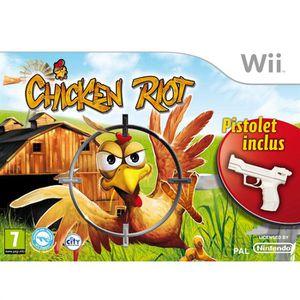 CHICKEN RIOT + Pistolet / Jeu console Wii