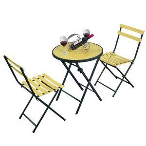 table et chaise de jardin en fer achat vente table et chaise de jardin en fer pas cher. Black Bedroom Furniture Sets. Home Design Ideas