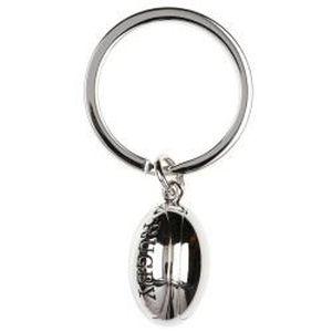 Porte-clés Rugby gris