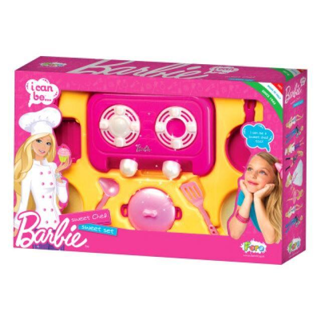 mini cuisine enfant barbie table de cuisson achat vente dinette cuisine mini cuisine. Black Bedroom Furniture Sets. Home Design Ideas
