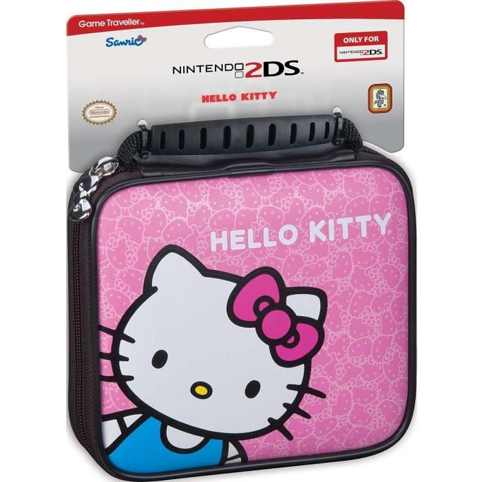 Pochette officielle hello kitty pour nintendo 2ds achat for Housse 2ds bigben