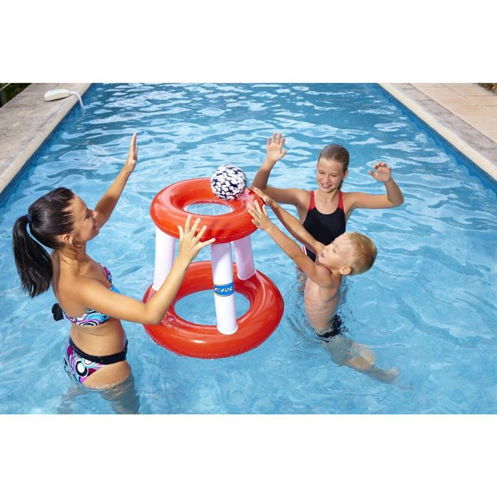 Kerlis panier de basket gonflable pour piscine achat - Piscine gonflable rectangulaire adulte ...