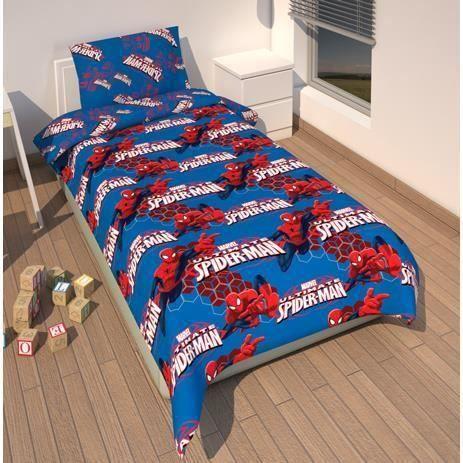 parure de lit housse de couette spiderman achat vente. Black Bedroom Furniture Sets. Home Design Ideas
