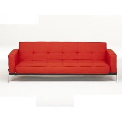 Canap clic clac en tissu zoey rouge vermillon achat for Canape clic clac rouge