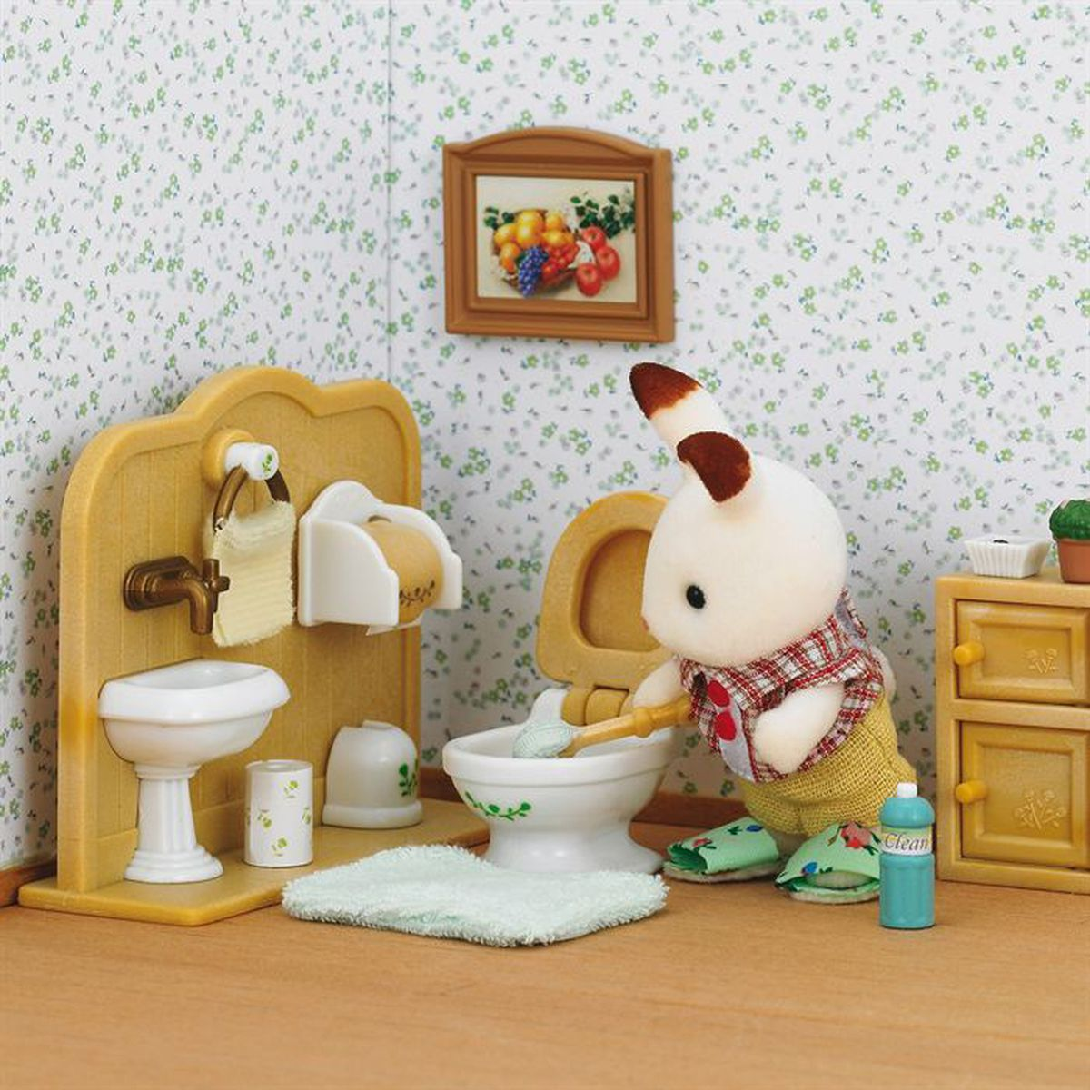 sylvanian families 2203 set lapin choco toilettes achat vente figurine personnage cdiscount. Black Bedroom Furniture Sets. Home Design Ideas