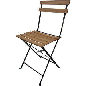 Chaise de jardin bois et metal achat vente chaise de jardin bois et metal pas cher cdiscount - Chaise pliante bois conforama ...