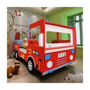 lit camion pompier achat vente lit camion pompier pas cher les soldes sur cdiscount. Black Bedroom Furniture Sets. Home Design Ideas