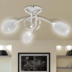 LUSTRE ET SUSPENSION vidaXL Lustre/ Lampe de Plafond Blanche 3 Abats Jo
