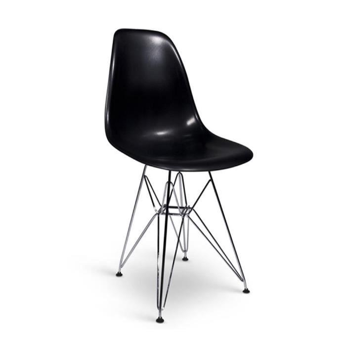 Chaise design style dsr noire - Soldes chaises design ...
