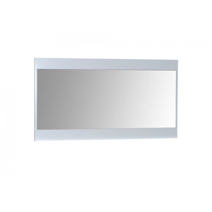 Miroir blanc laqu cubik achat vente miroir panneaux for Grand miroir blanc laque