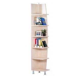 Etag re d 39 angle 6 tablettes erable achat vente meuble for Etagere d angle salon