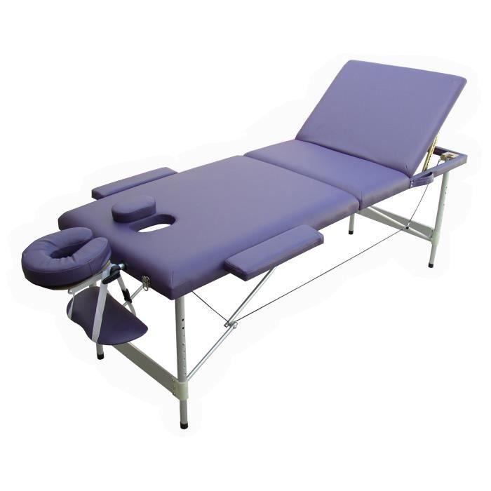w3p table de massage violet pliante portable alu achat. Black Bedroom Furniture Sets. Home Design Ideas
