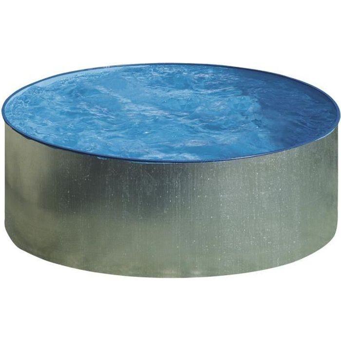 Gre piscine hors sol ronde tenerife 350 h 90 cm gris for Piscine hors sol gre ronde