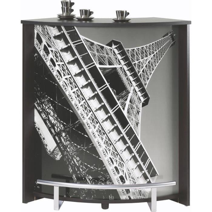 comptoir de bar paris tour eiffel noir achat vente meuble bar comptoir de bar paris. Black Bedroom Furniture Sets. Home Design Ideas