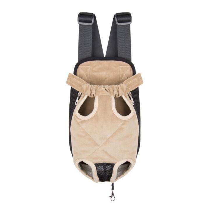 Sac de transport ventral poitrine pour animaux chien chat taille xl beige achat vente - Sac ventral pour chien ...
