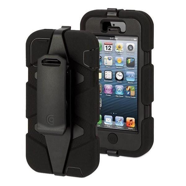 telephonie accessoires portable gsm coque griffin survivor noir pour apple iphone  f gri