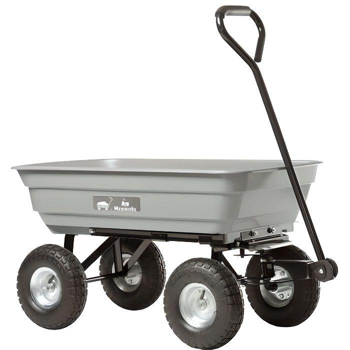 Chariot de jardin haemmerlin 4x4 garden 75l 320062001 for Chariot de jardin 2 roues