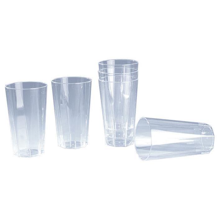 Verre plastique octogonal cristal 20 unites cuisine - Nappe cuisine plastique ...