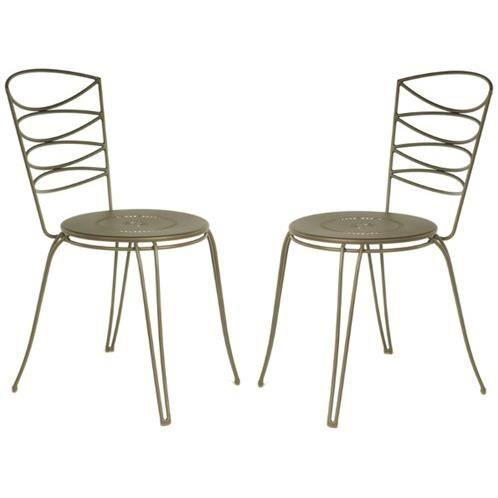 Chaise amande en acier cataphor se rouille par 2 achat vente fauteuil jardin chaise amande for Chaise en acier poitiers