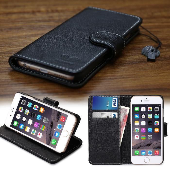 Savfy housse etui portefeuille pour iphone 6 6s 4 7 rabat for Housse portefeuille iphone 6