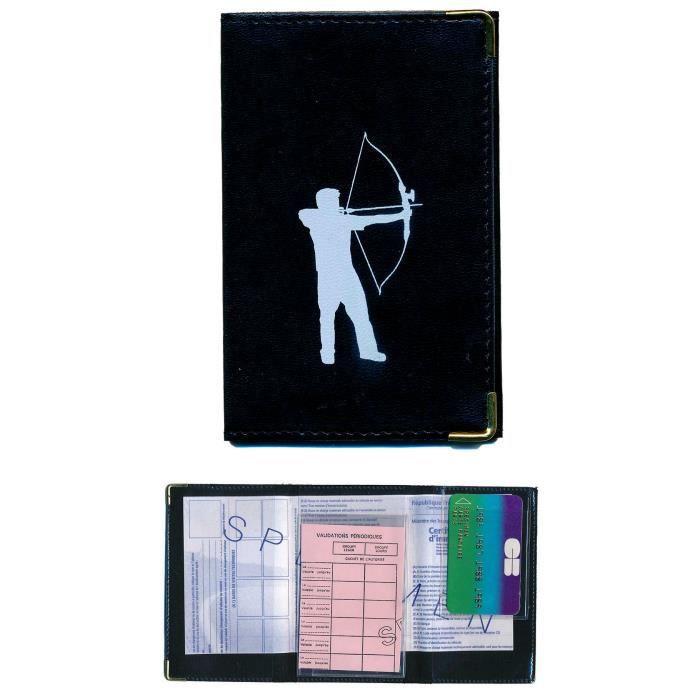 pochette etui protection porte carte grise papiers voiture permis de conduire tir l 39 arc. Black Bedroom Furniture Sets. Home Design Ideas