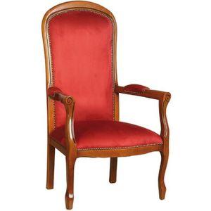 fauteuil voltaire assise haute achat vente fauteuil voltaire assise haute pas cher cdiscount. Black Bedroom Furniture Sets. Home Design Ideas