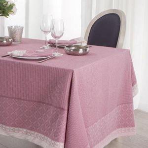 Nappe rectangulaire rose achat vente nappe rectangulaire rose pas cher cdiscount - Nappe de table rectangulaire pas cher ...
