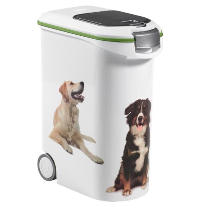 curver conteneur de croquettes chien 20 kg achat vente boite de rangement conteneur de. Black Bedroom Furniture Sets. Home Design Ideas
