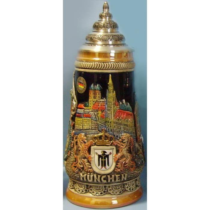 Capacité de Super haute qualité Dai 1L verre bière Stein Allemagne Munich
