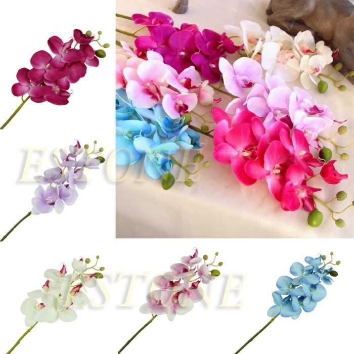mod le sky bleu artificielle orchid e papillon fleur de soie phalaenopsis bouquet mariage. Black Bedroom Furniture Sets. Home Design Ideas
